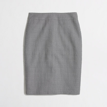 Factory pencil skirt in tonal tweed