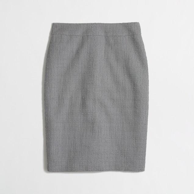 Factory pencil skirt in tonal tweed