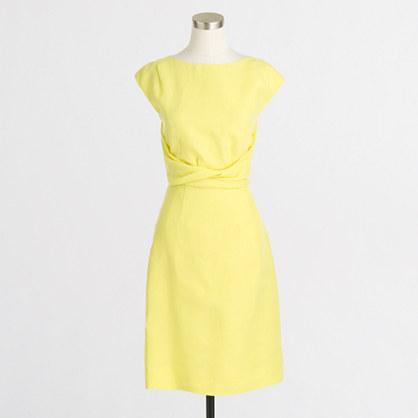 Factory linen twist dress