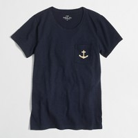 Factory anchor pocket collector tee