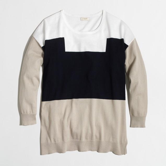 Factory colorblock crewneck sweater