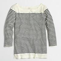 Factory drop-stripe boatneck shirt
