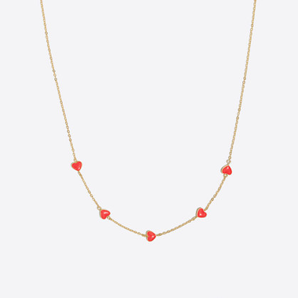 Girls' heart charm necklace