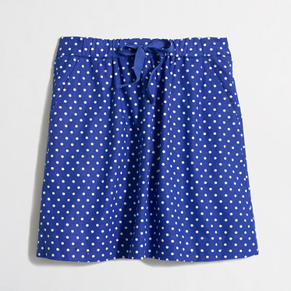 Factory drawstring skirt in polka dot
