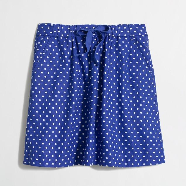 Factory drawstring skirt in polka dot