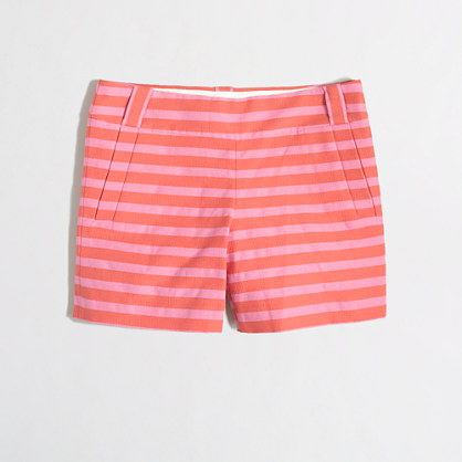 Factory textured-stripe short