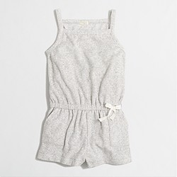 Factory girls' terry drawstring romper