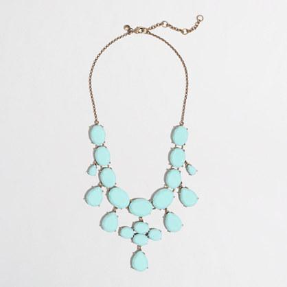 Factory crystal teardrop necklace