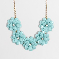 Factory crystal floral burst necklace