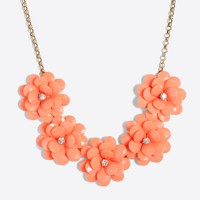 Crystal floral burst necklace
