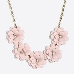 Crystal floral burst necklace