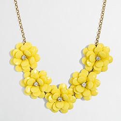 Factory crystal floral burst necklace