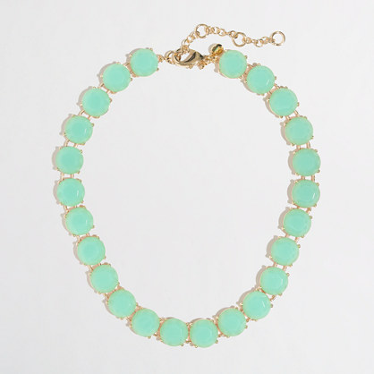 Factory translucent stone necklace