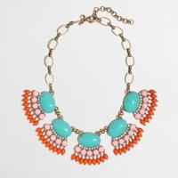 Factory fan fringe necklace