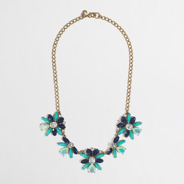Factory neon floral burst necklace