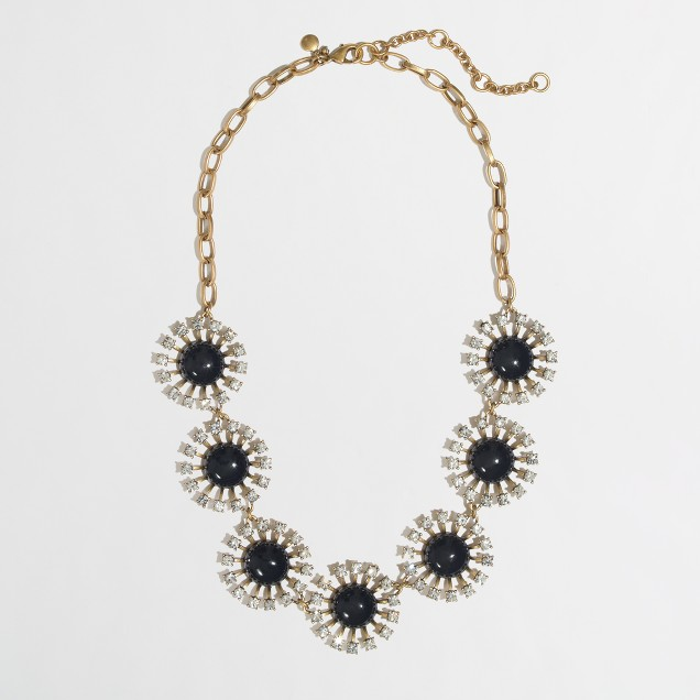 Factory crystal stoneburst necklace