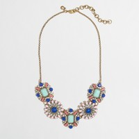 Factory floral charm necklace