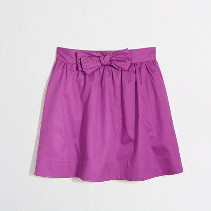 Factory girls' bow skirt