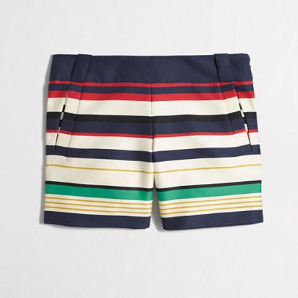 Factory multicolor-stripe short