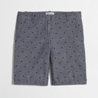 """Factory 10"""" bermuda short in dotted chambray"""