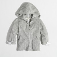 Factory girls' terry V-neck hoodie