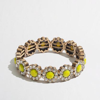 Factory crystal daisy stretch bracelet