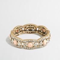 Factory crystal peach bracelet