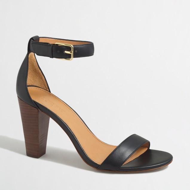 Stacked-heel sandals