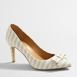 Factory Isabelle printed bow pumps