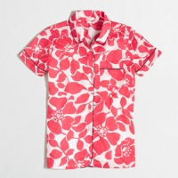 Factory short-sleeve pajama shirt in floral