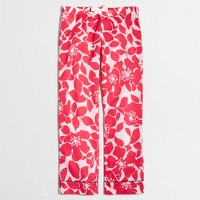 Factory cropped pajama pant in floral