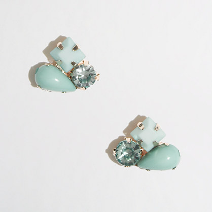 Factory stone cluster stud earrings