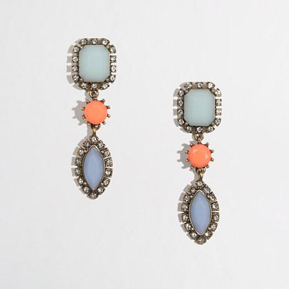Factory crystal droplet earrings