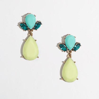 Factory neon petal drop earrings
