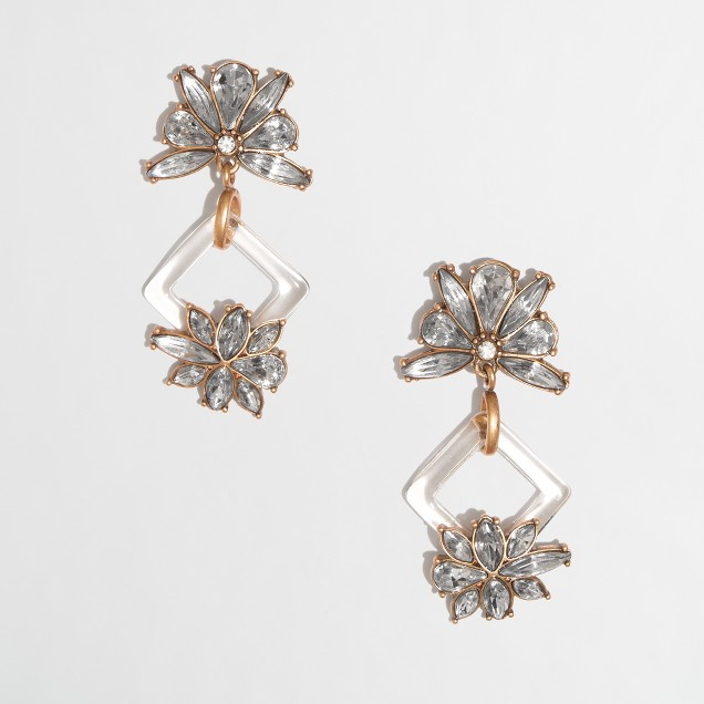 Factory hanging petal earrings