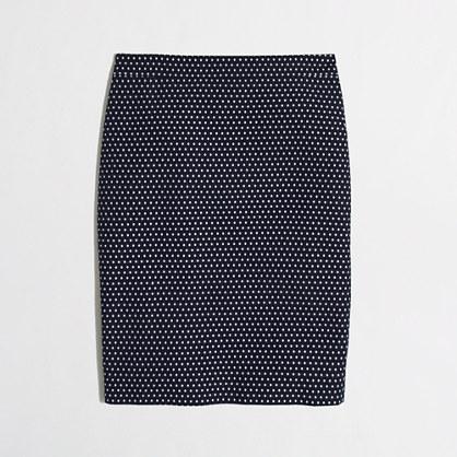 Factory pencil skirt in jacquard dot