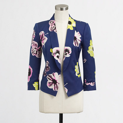 Factory printed cropped blazer