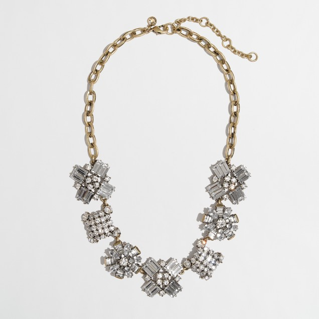 Factory crystal crush necklace