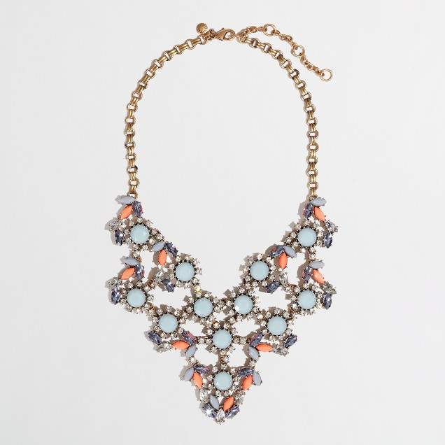 Factory floral web necklace