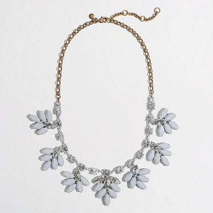 Factory crystal leaf necklace