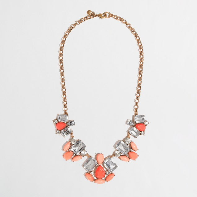 Factory petal cluster necklace