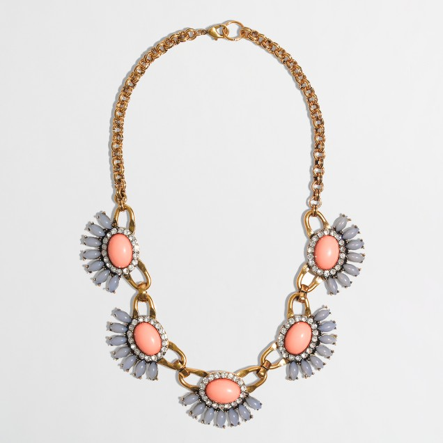 Factory half-flower fringe necklace