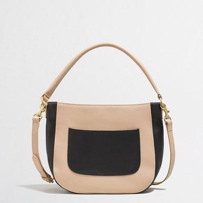 Factory mini colorblock bucket bag