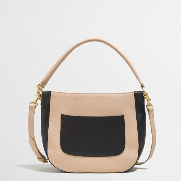 Factory mini colorblock bucket bag