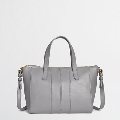 Factory leather tote bag