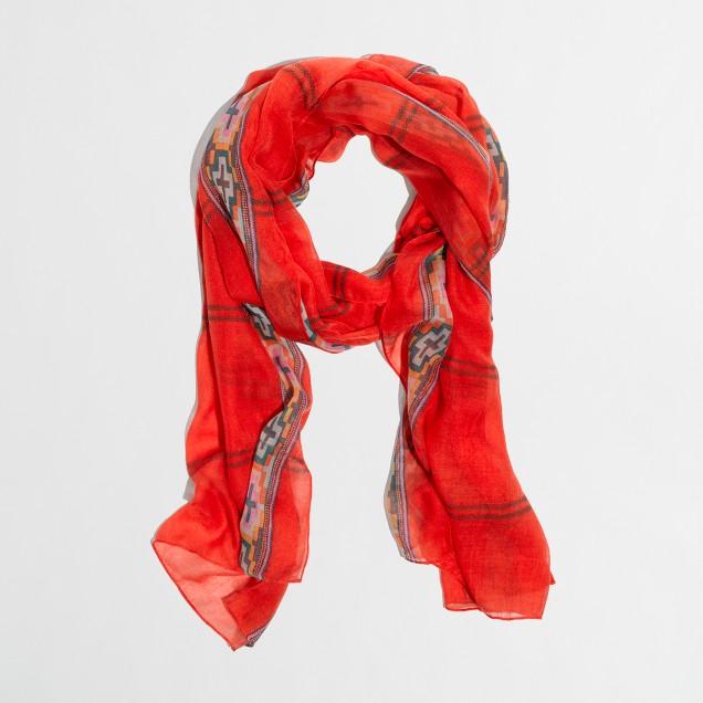 Factory multicolor border scarf
