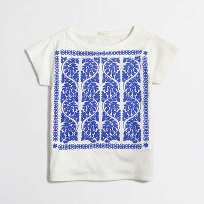 Factory girl's floral columns keepsake tee