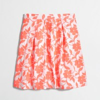 Factory embroidered floral skirt