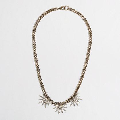 Factory horizon half-flower necklace
