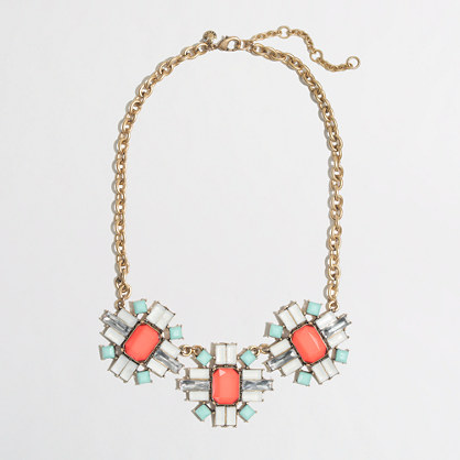 Factory stone shapes necklace